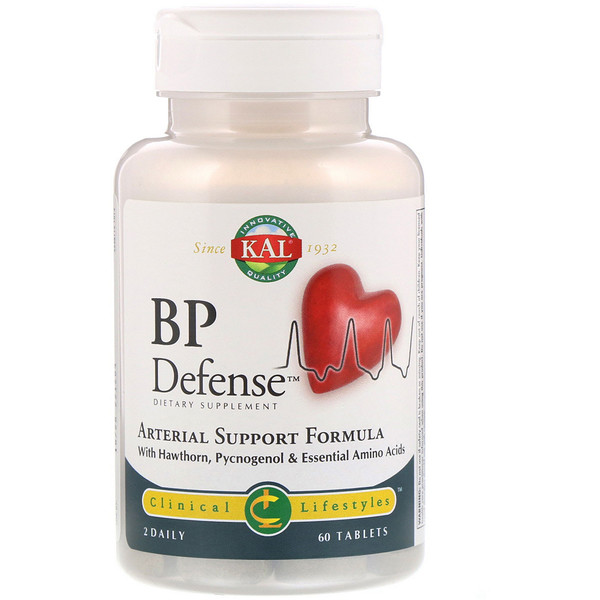 BP Defense, Arterial Support Formula, 60 Tablets