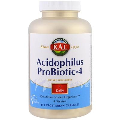 Пробиотик ацидофилус-4, 250 вегетарианских капсул