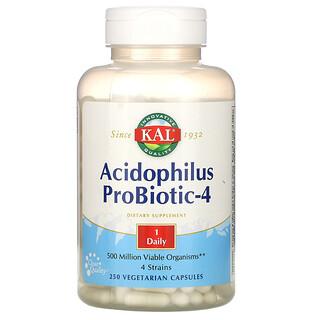 KAL, Acidophilus Probiotic-4, 250 Veggie Caps