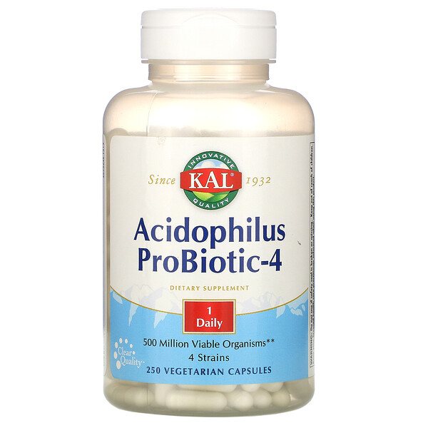 Acidophilus Probiotic-4, 250 Veggie Caps