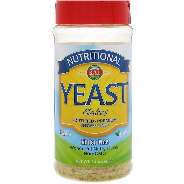KAL, Nutritional Yeast Flakes, Unsweetened, 3.1 oz (90 g)