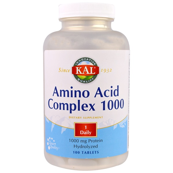 KAL, Amino Acid Complex 1000, 1,000 mg, 100 Tablets