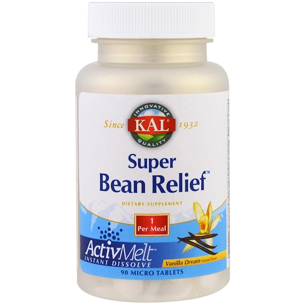 KAL, Super Bean Relief, Vanilla Dream, 90 Micro Tablets (Discontinued Item)