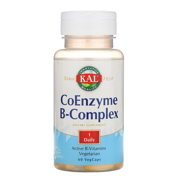 KAL, Coenzyme B-Complex, 60 VegCaps (Discontinued Item)