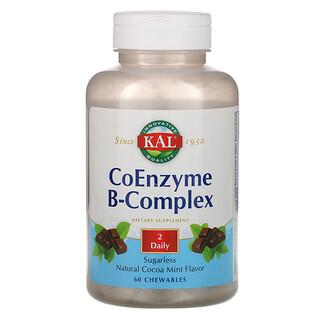 KAL, Коферментный B-комплекс, натуральная мята и какао, 60 жевательных таблеток