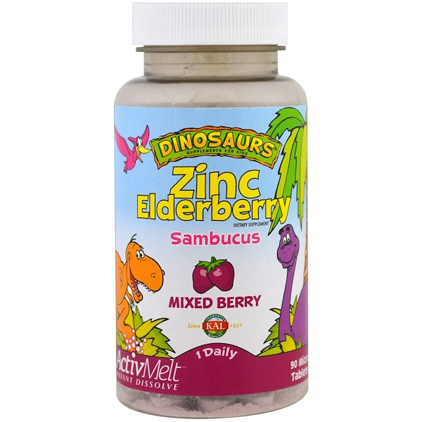 Zinc Elderberry ActivMelt, Mixed Berries , 90 Micro Tablets
