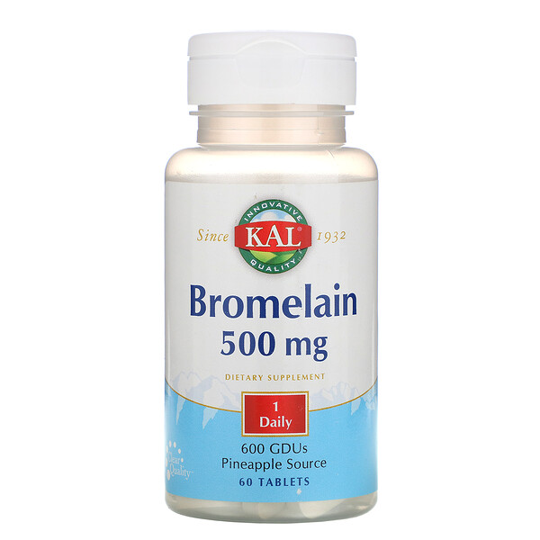 KAL, Bromelain, 500 mg, 60 Tablets