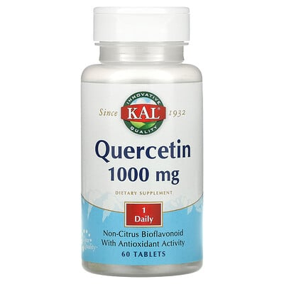KAL Quercetin, 1,000 mg, 60 Tablets