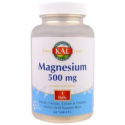 Магний, 500 мг, 60 таблеток магний 250 мг 110 таблеток