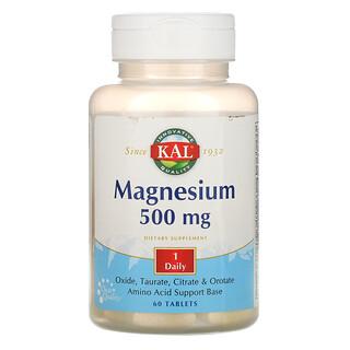 KAL, Magnesium, 500 mg, 60 Tablets