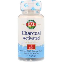 KAL, Charcoal Activated, 280 mg, 50 VegCaps