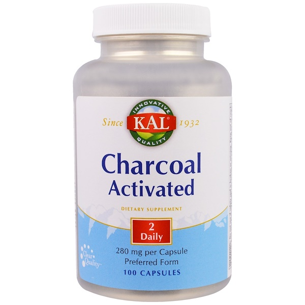 KAL, Charcoal Activated, 280 mg, 100 Capsules (Discontinued Item)