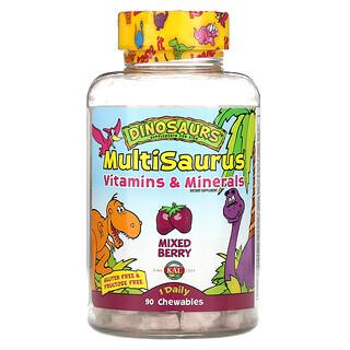 KAL, MultiSaurus, Vitamins & Minerals, Mixed Berry, 90 Chewables