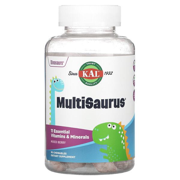 MultiSaurus, Vitamins & Minerals, Mixed Berry, 90 Chewables