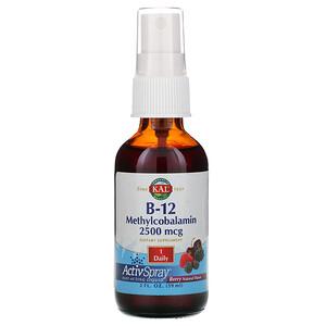 КАЛ, B-12 Methylcobalamin, Berry, 2,500 mcg, 2 fl oz (59 ml) отзывы покупателей