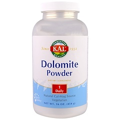 KAL, Dolomite Powder, 16 oz (454 g)