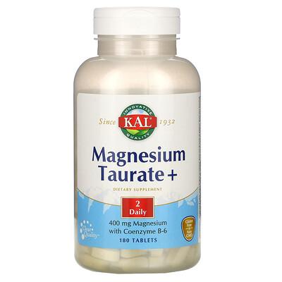 Купить KAL Magnesium Taurate +, 400 mg, 180 Tablets