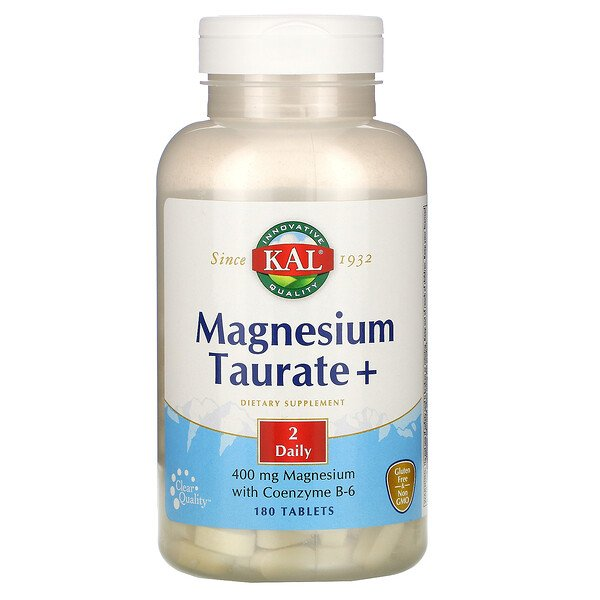 Magnesium Taurate +, 400 mg, 180 Tablets