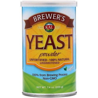 KAL, Levedura em Pó Brewer's, Não Adoçada, 7,4 oz (209 g)