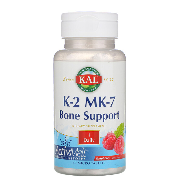 K-2 MK-7, Bone Support, Raspberry, 60 Micro Tablets