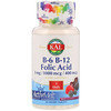 KAL, B-6 B-12葉酸、ベリー、マイクロ錠剤60個