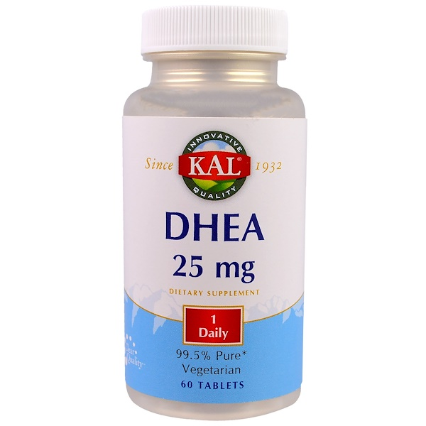KAL, DHEA, 25 mg, 60 Tablets (Discontinued Item)