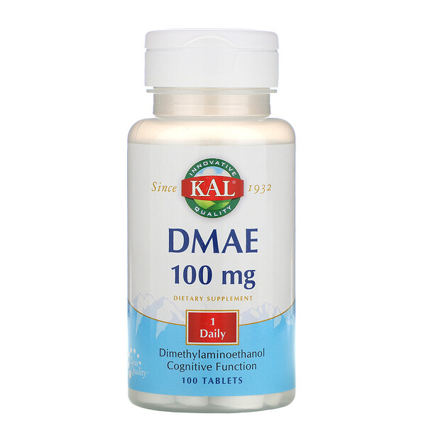 KAL, DMAE, 100 mg, 100 Tablets