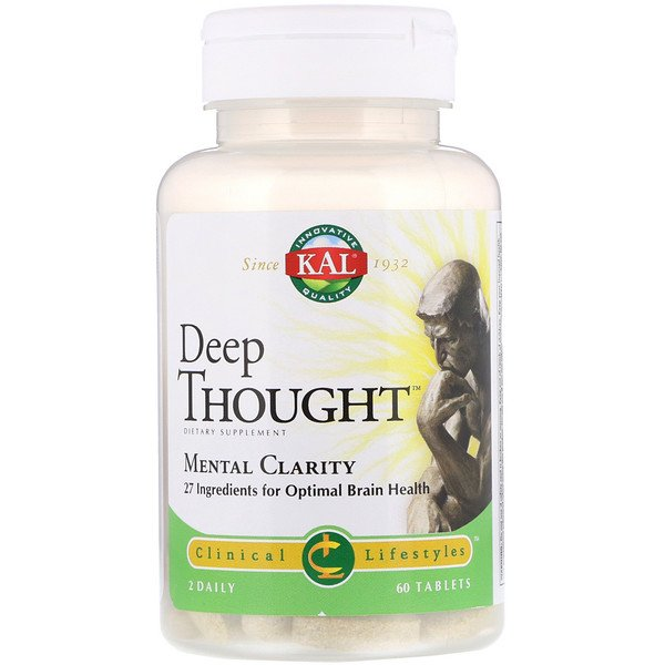 KAL, Deep Thought, Mental Clarity, 60 Tablets