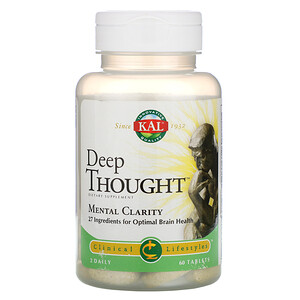 Deep Thought, Mental Clarity, 60 Tablets отзывы