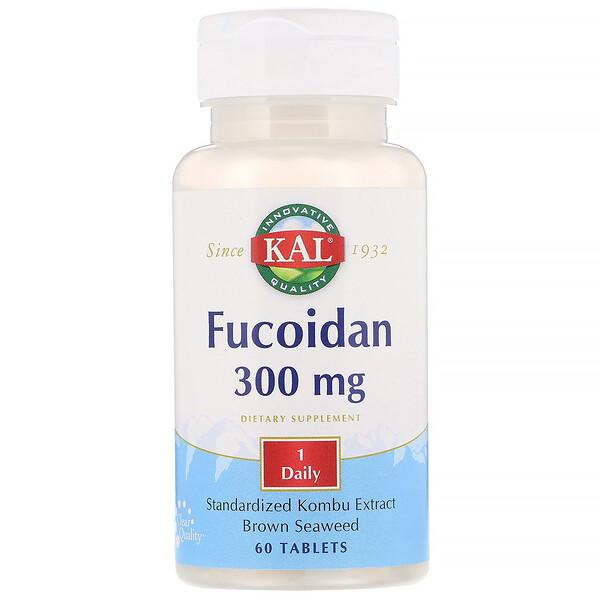 KAL, Fucoidan, 300mg, 60comprimés