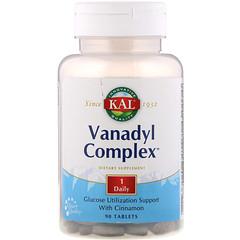 KAL, Vanadyl Complex, 90 Tablets
