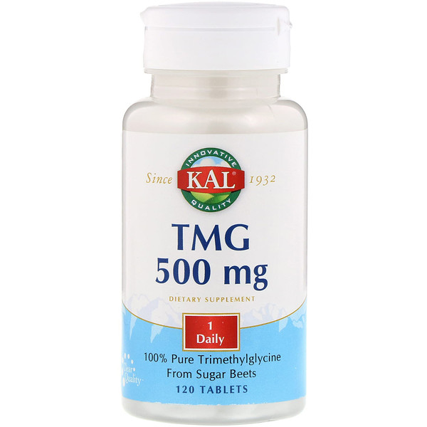 KAL, TMG, 500 mg, 120 Tablets