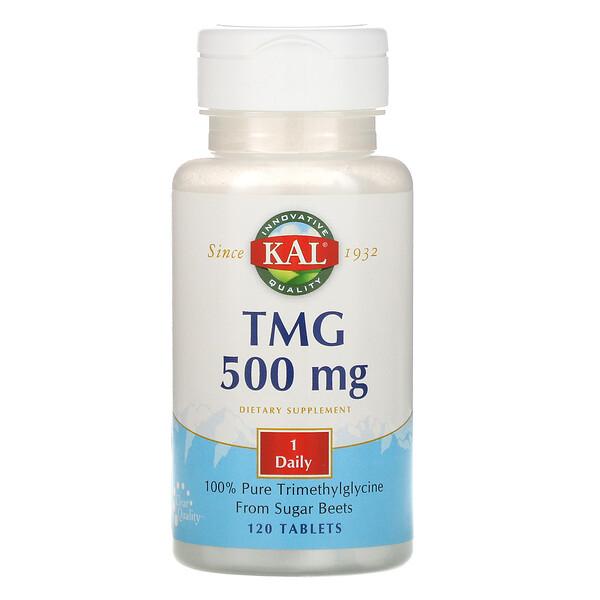 TMG, 500 mg, 120 Tablets