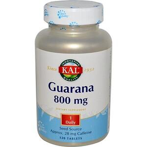 КАЛ, Guarana, 800 mg, 120 Tablets отзывы