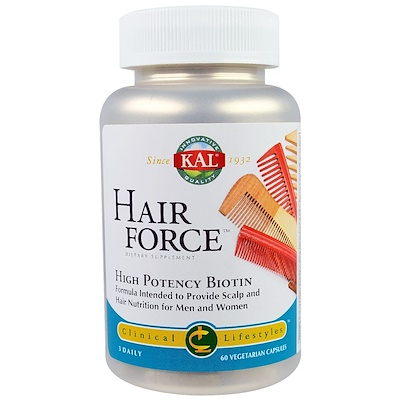 Hair Force, High Potency Biotin, 60 Vegetarian Capsules