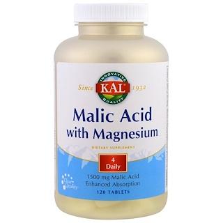 KAL, マグネシウム配合のリンゴ酸、120錠