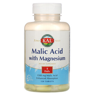 KAL, Malic Acid with Magnesium, 120 Tablets