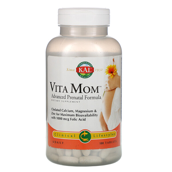Vita Mom, Advanced Prenatal Formula, 180 Tablets