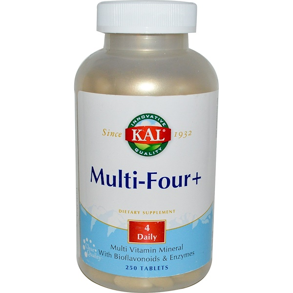 KAL, Multi-Four+, 250 Tablets (Discontinued Item)