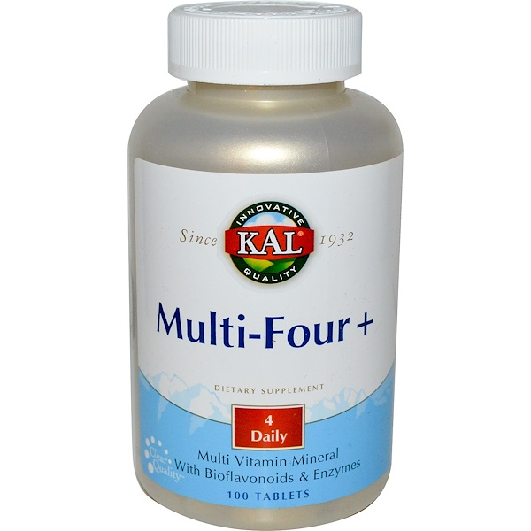 KAL, Multi-Four+, 100 Tablets (Discontinued Item)