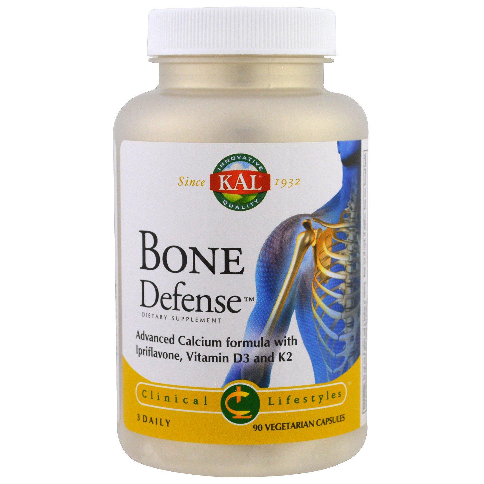 KAL, Защита костей, 90 растительных капсул