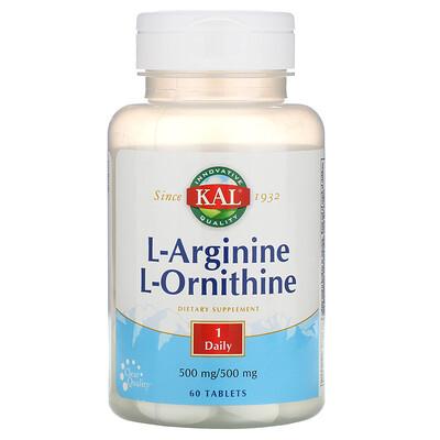 KAL L-Arginine L-Ornithine, 500 mg /500 mg, 60 Tablets