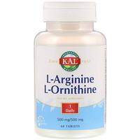 L-Arginine L-Ornithine, 60 Tablets - фото