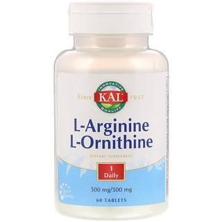 KAL, L-Arginine L-Ornithine, 60 Tablets