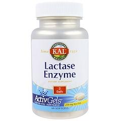 KAL, ラクターゼエンザイム, 250 mg, 60錠 (ソフトジェル)