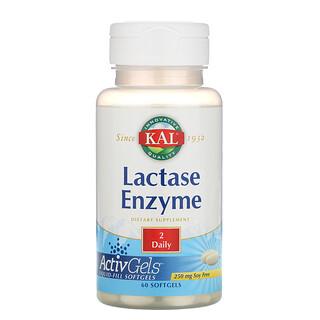 KAL, Enzima Lactase, 250mg, 60 cápsulas