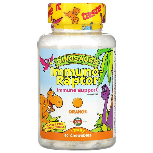 Dinosaurs, Immuno-Raptor, Immune Support, Orange, 60 Chewables