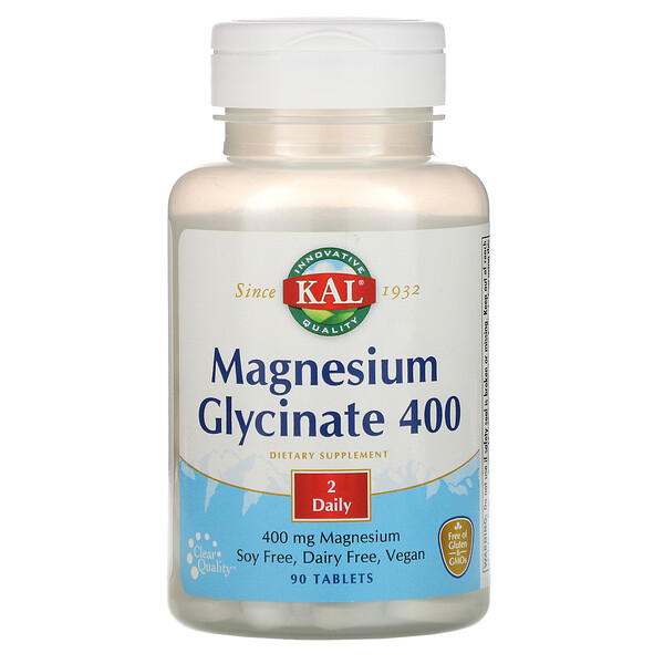 Magnesium Glycinate 400, 400 mg, 90 Tablets