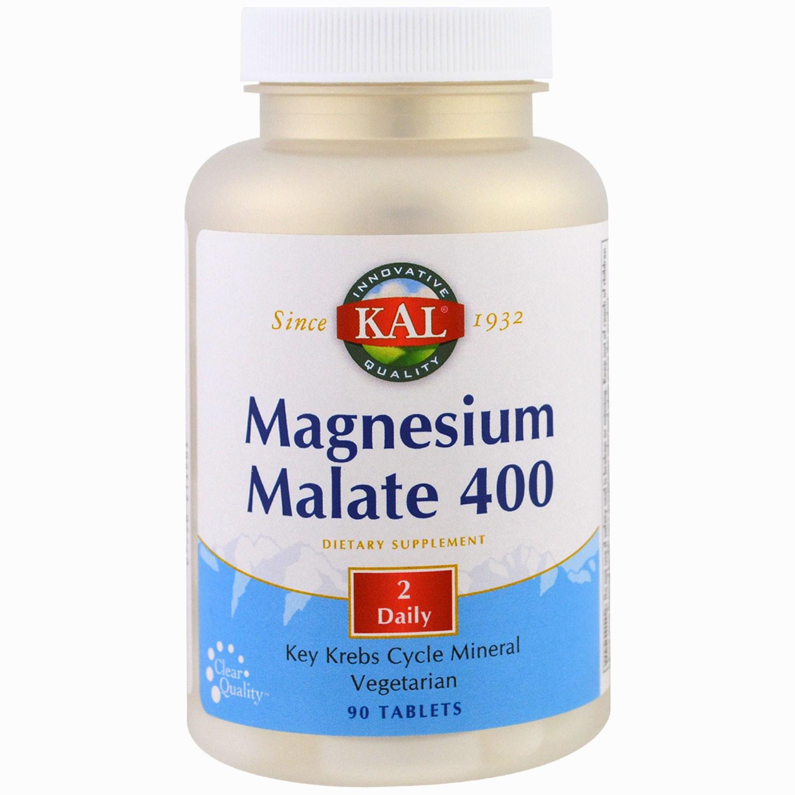 KAL, Magnesium Malate, 90 Tablets