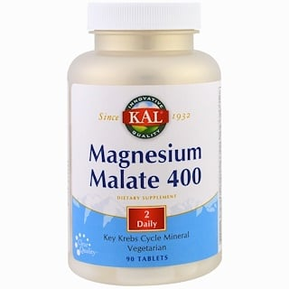 KAL, Magnesium Malate, 90 Tablets